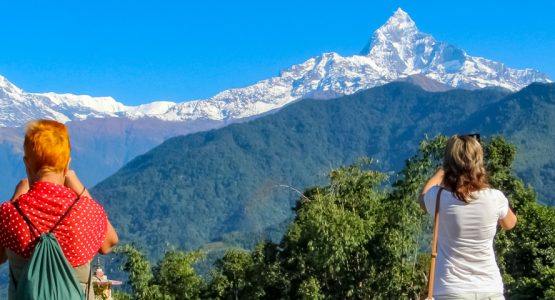 Panoramic view from Best of Nepal Family Tour