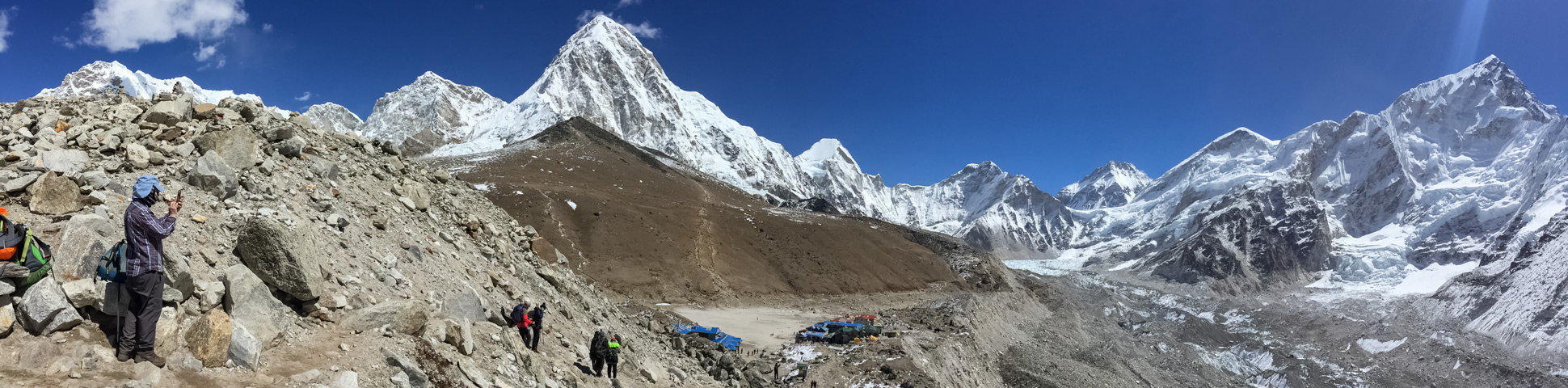 Panoramic view from Everest Base Camp Trek