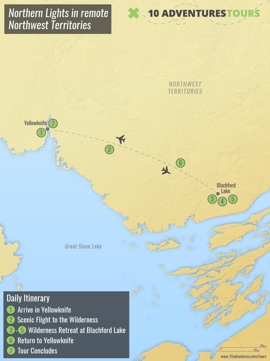 Northern Lights in remote Northwest Territories