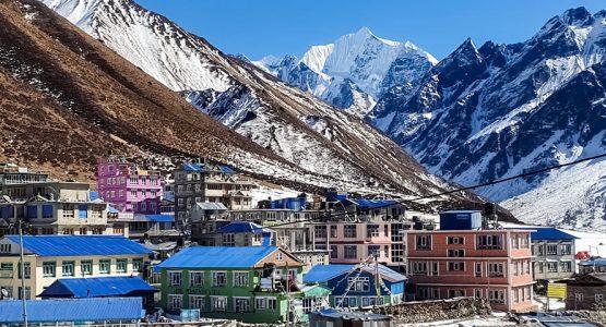 Panoramic view from Langtang Trek