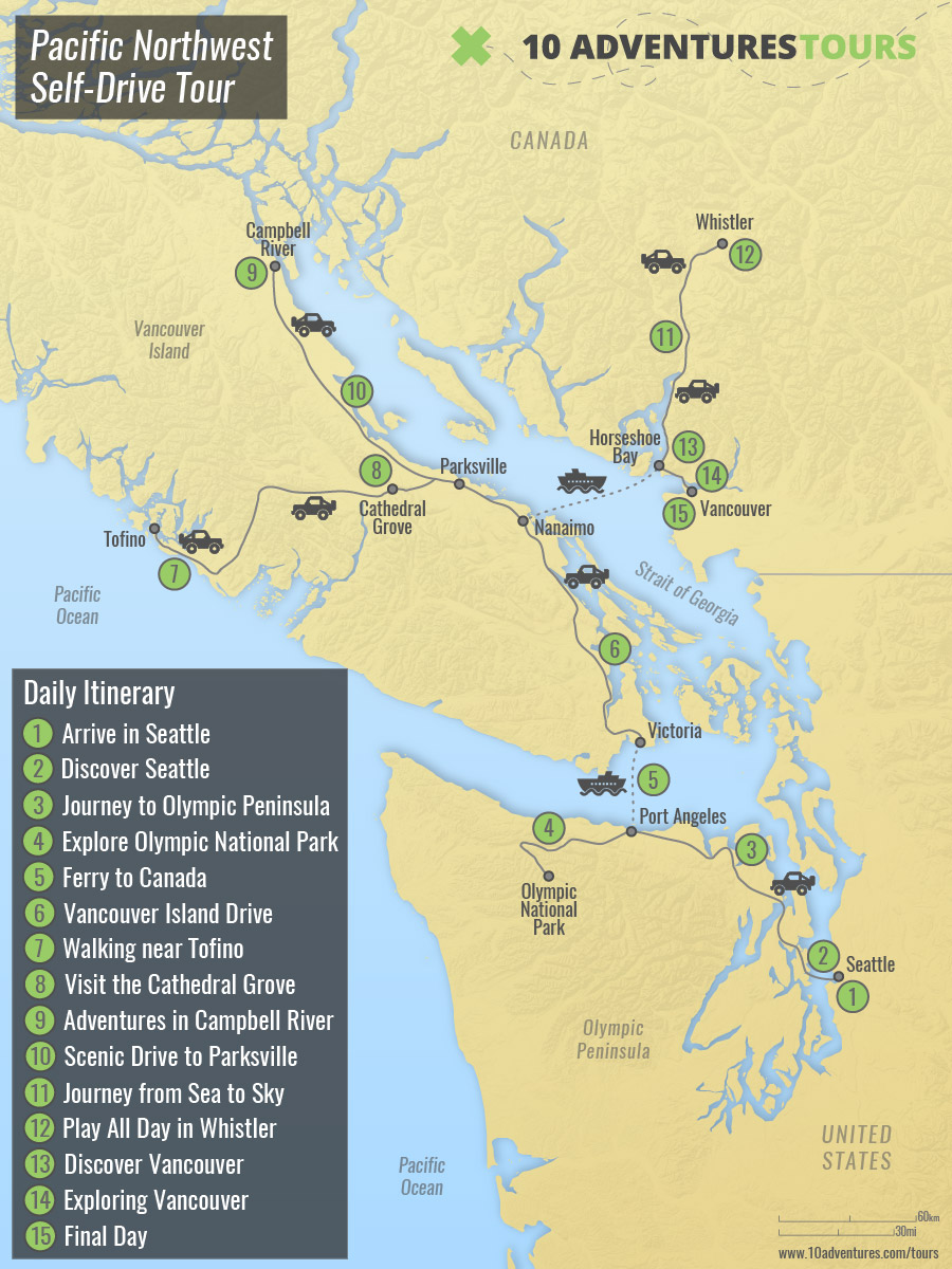 Pacific Northwest Self-Drive Tour