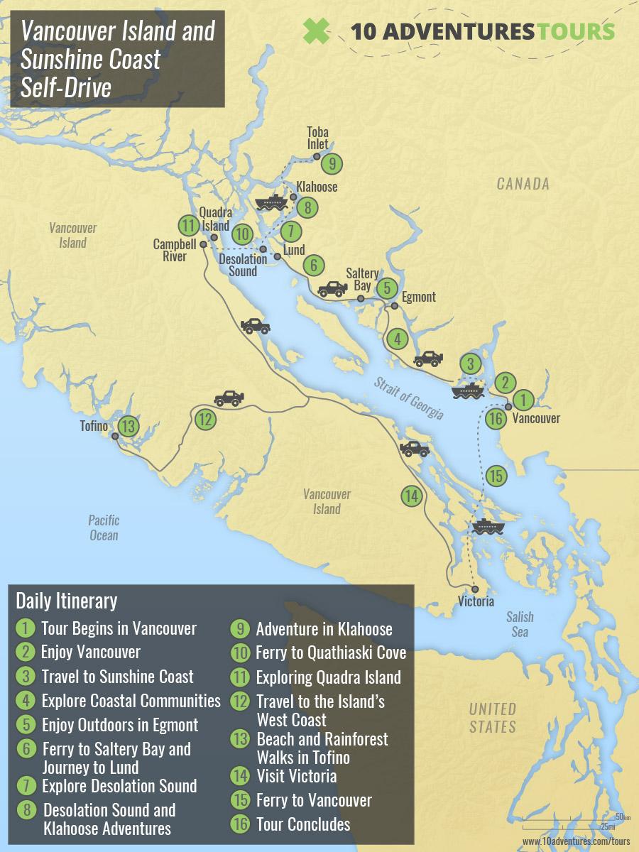 Vancouver Island and Sunshine Coast Self-Drive
