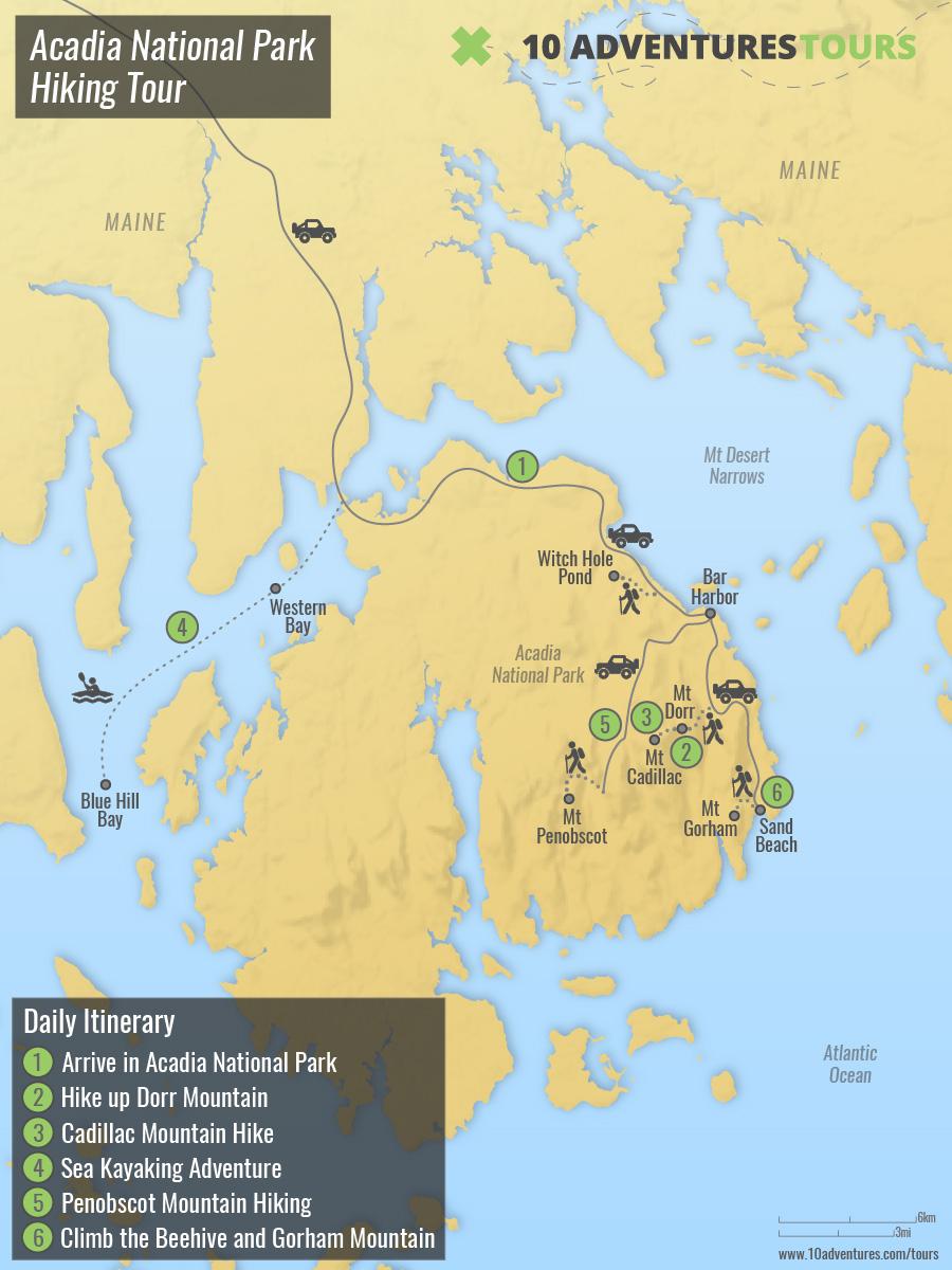 Acadia National Park Hiking Tour