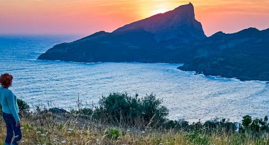 Panoramic view from Corte to the Coast Trek