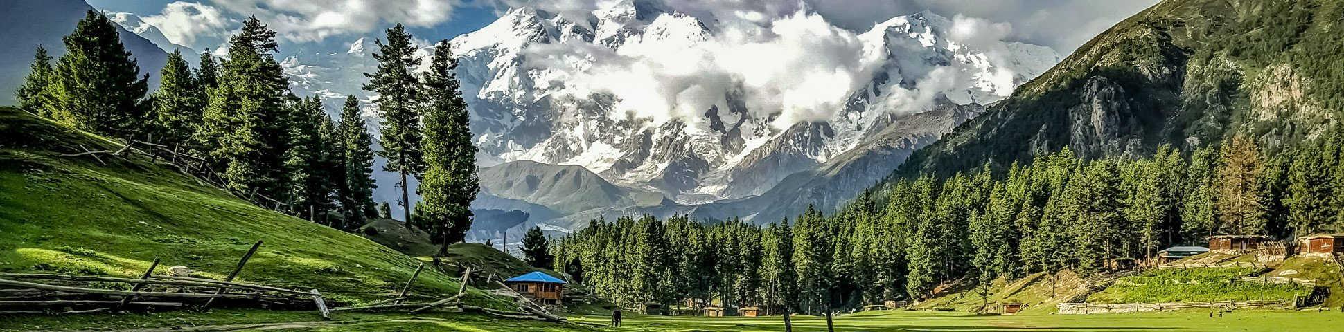 Panoramic views from Fairy Meadows and Nanga Parbat Base Camp Tour