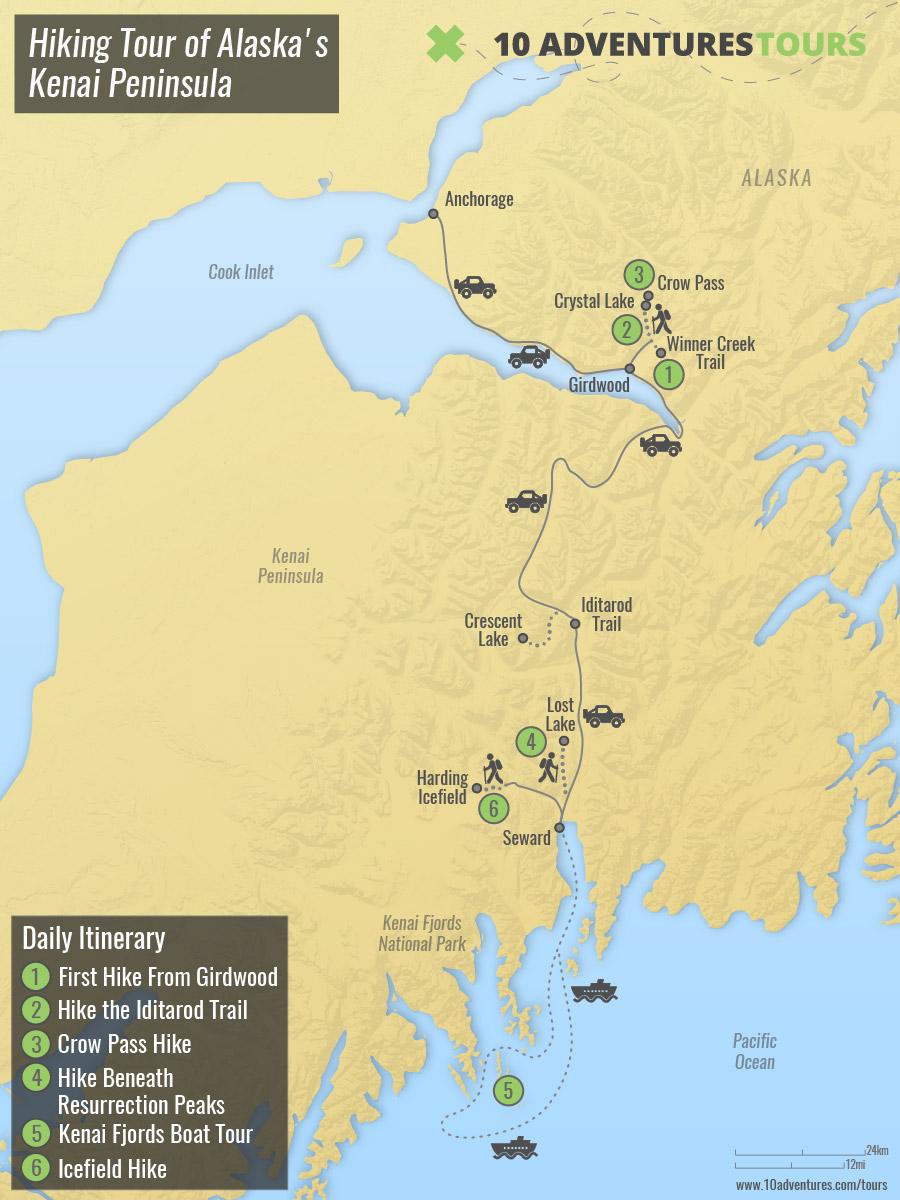 Hiking Tour of Alaska's Kenai Peninsula