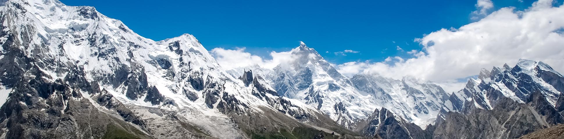 Panoramic view from K2 Base Camp Trek and Concordia Trek