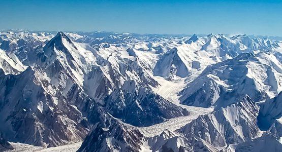 Panoramic view from K2 Base Camp and Gondogoro La Trek