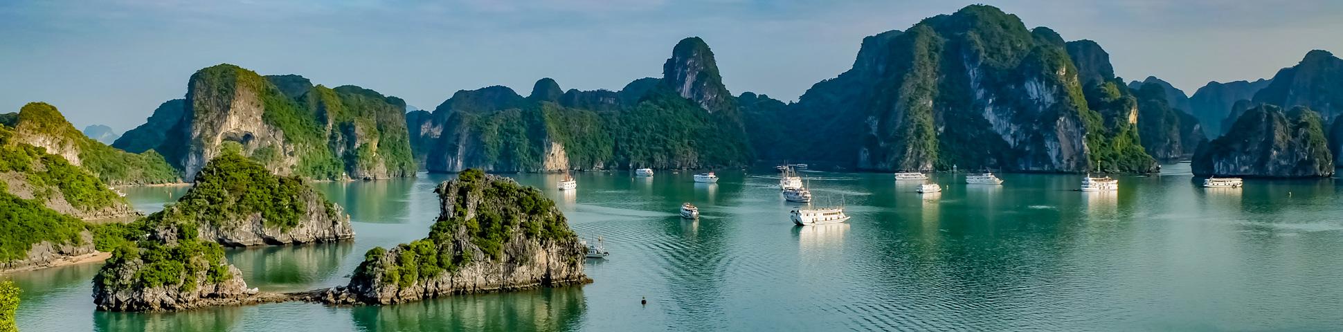 Panoramic views on Bike and Beaches of the Vietnam Coast