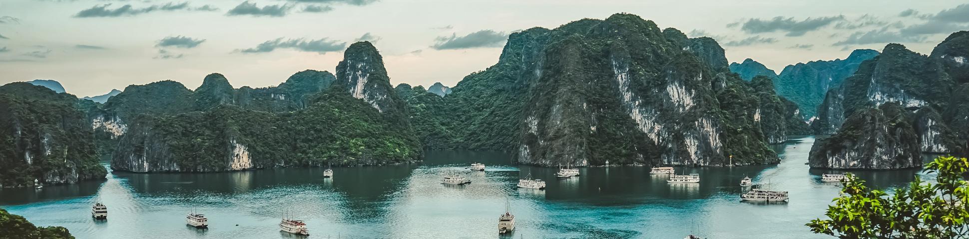 Panoramic view from Northern Vietnam Trekking and Halong Bay