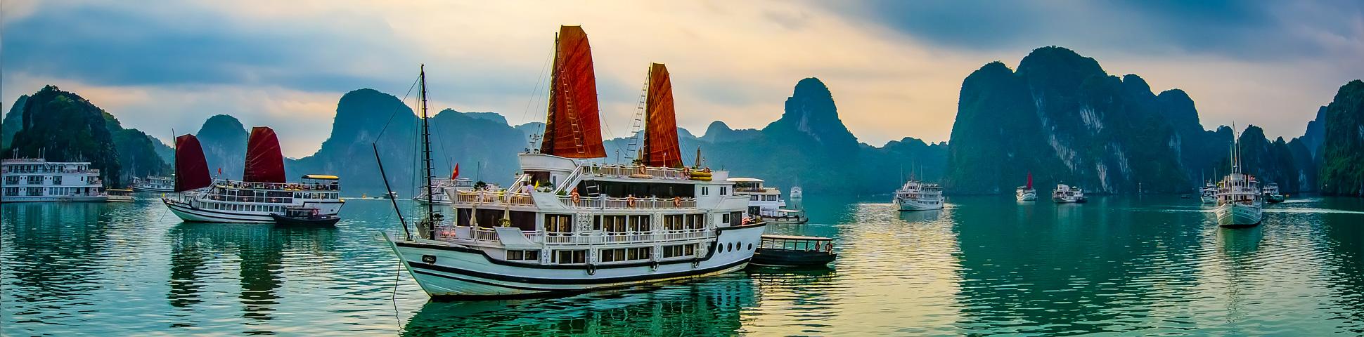 Panoramic view from Vietnam Adventure Tour