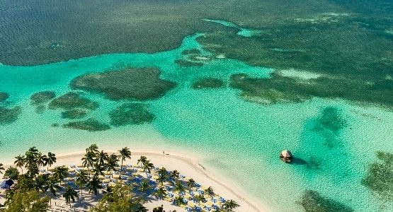 Sandy beach in tropical islad