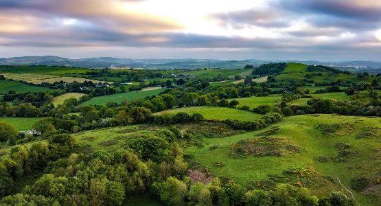 Green hills near Cork, Ireland