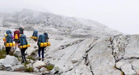 Trekking in mountain enviroment