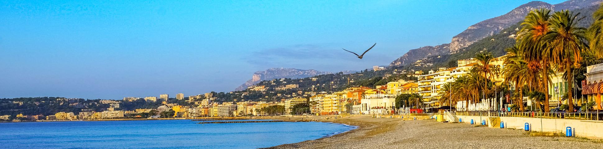 French and Italian Riviera coastline