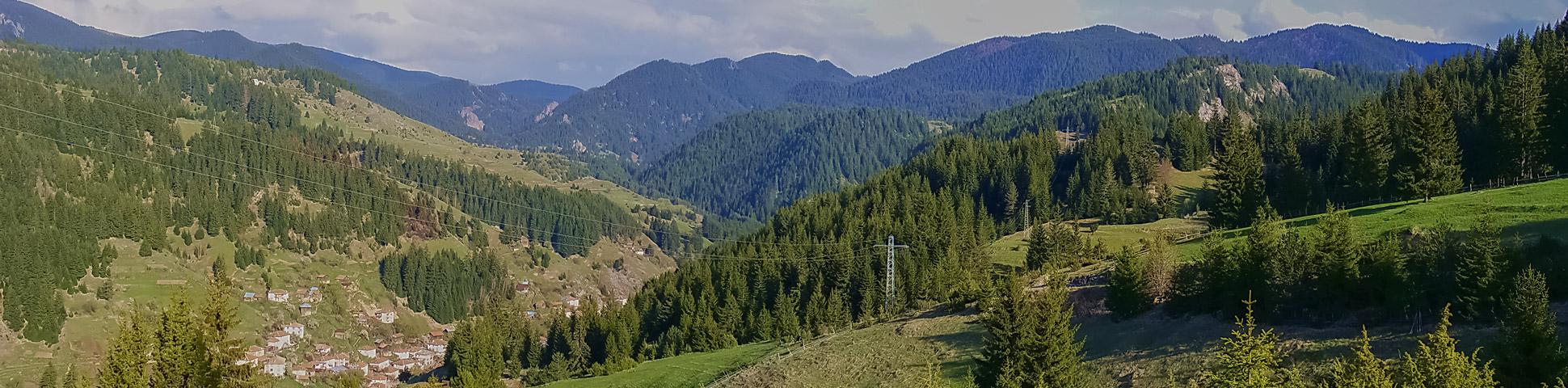 Panoramic views from Rhodope Mountain Biking Tour