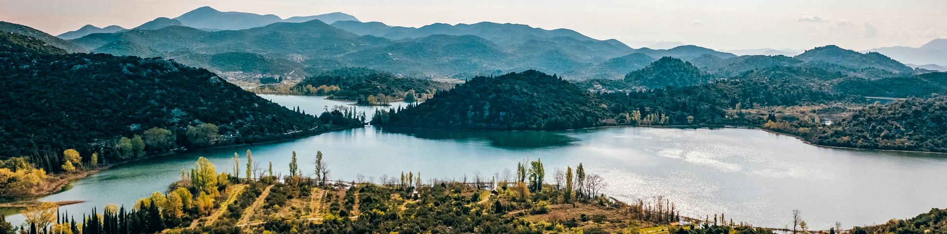 Panoramic view from Croatia Trekking Tour from Split to Dubrovnik