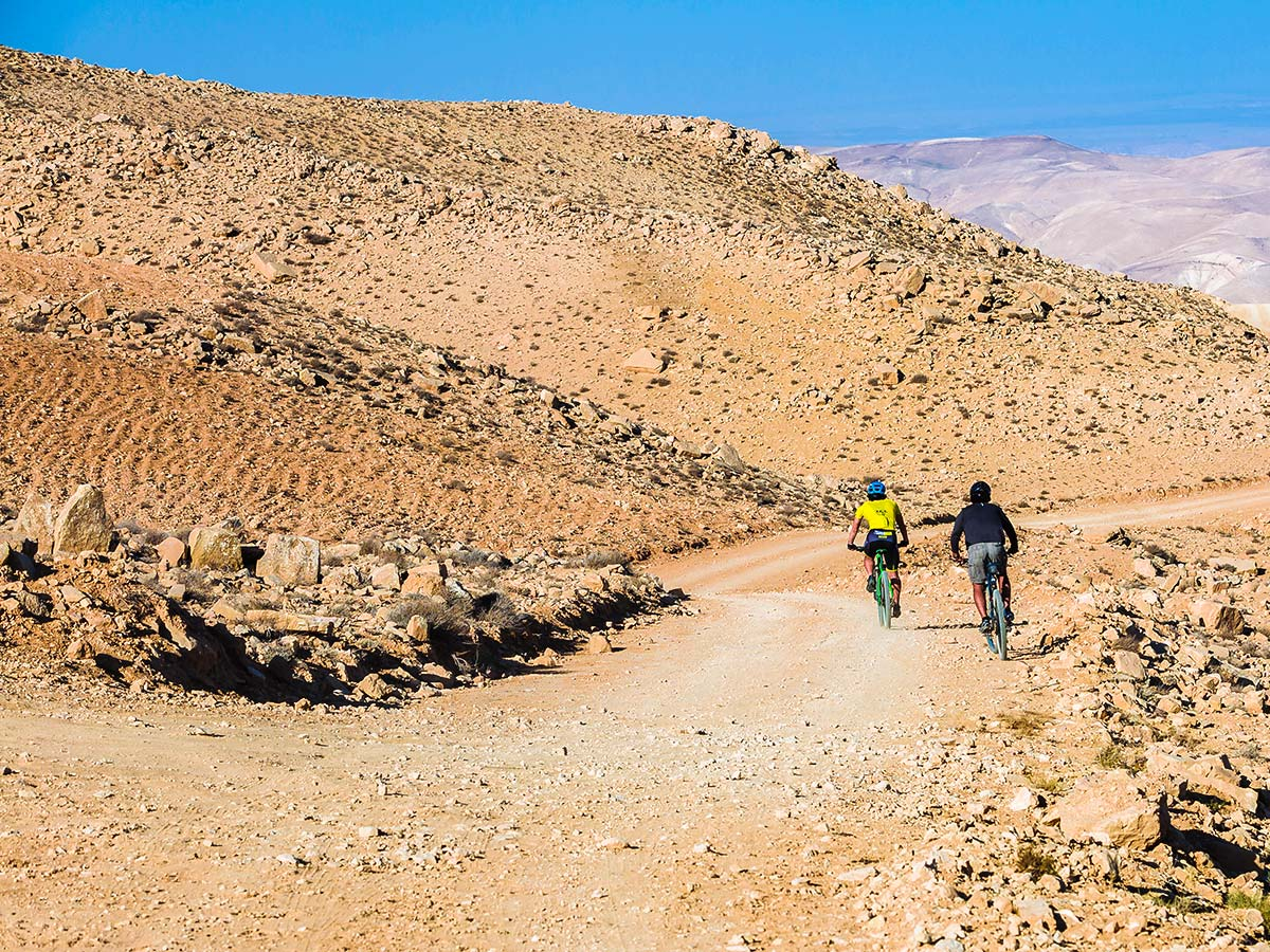 Mountain biking on Jordan Adventure Holiday tour