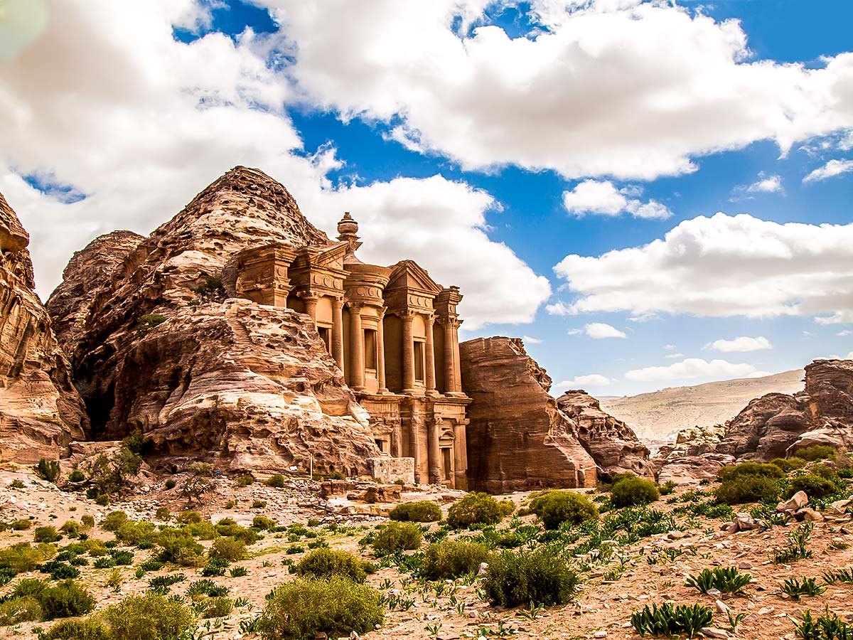 Beautiful Petra on Jordan Adventure Holiday tour
