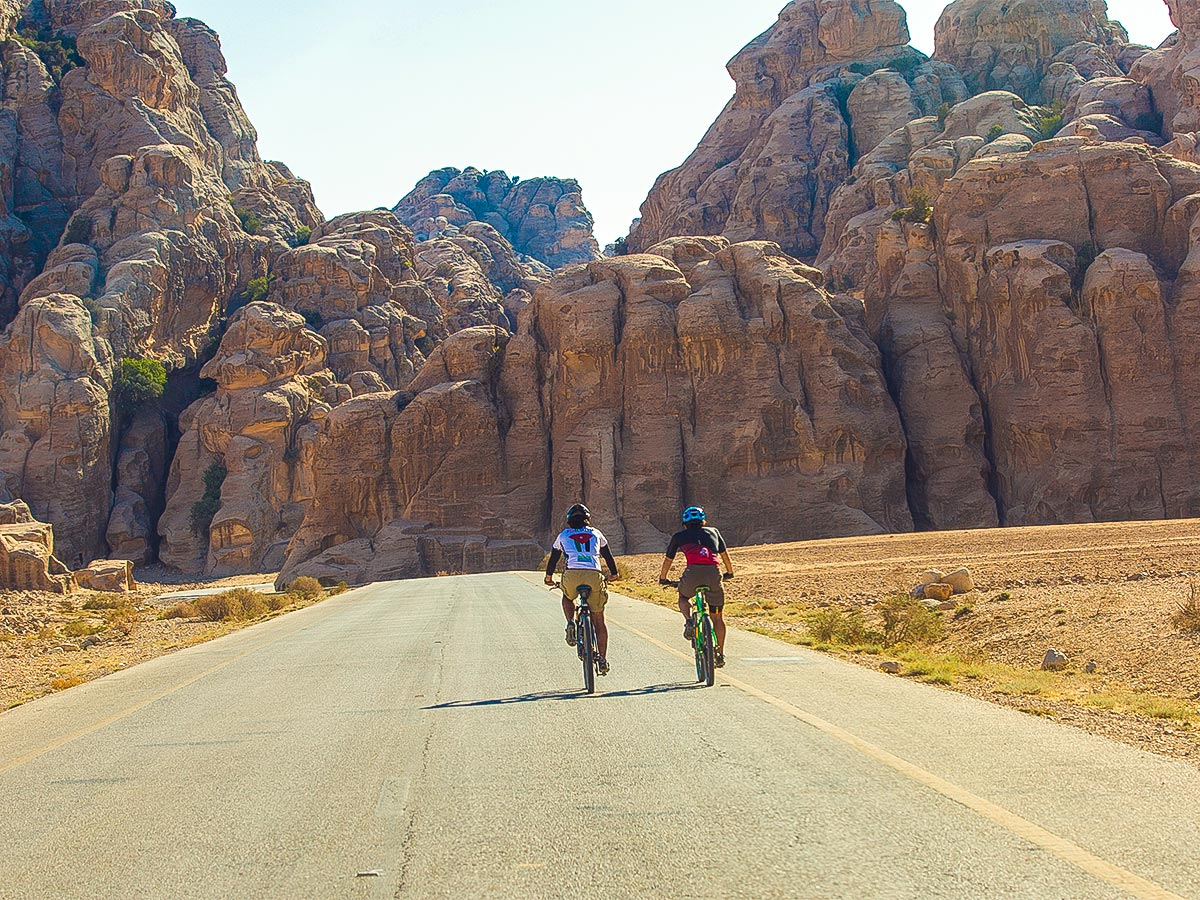Cycling on Jordan Adventure Holiday tour