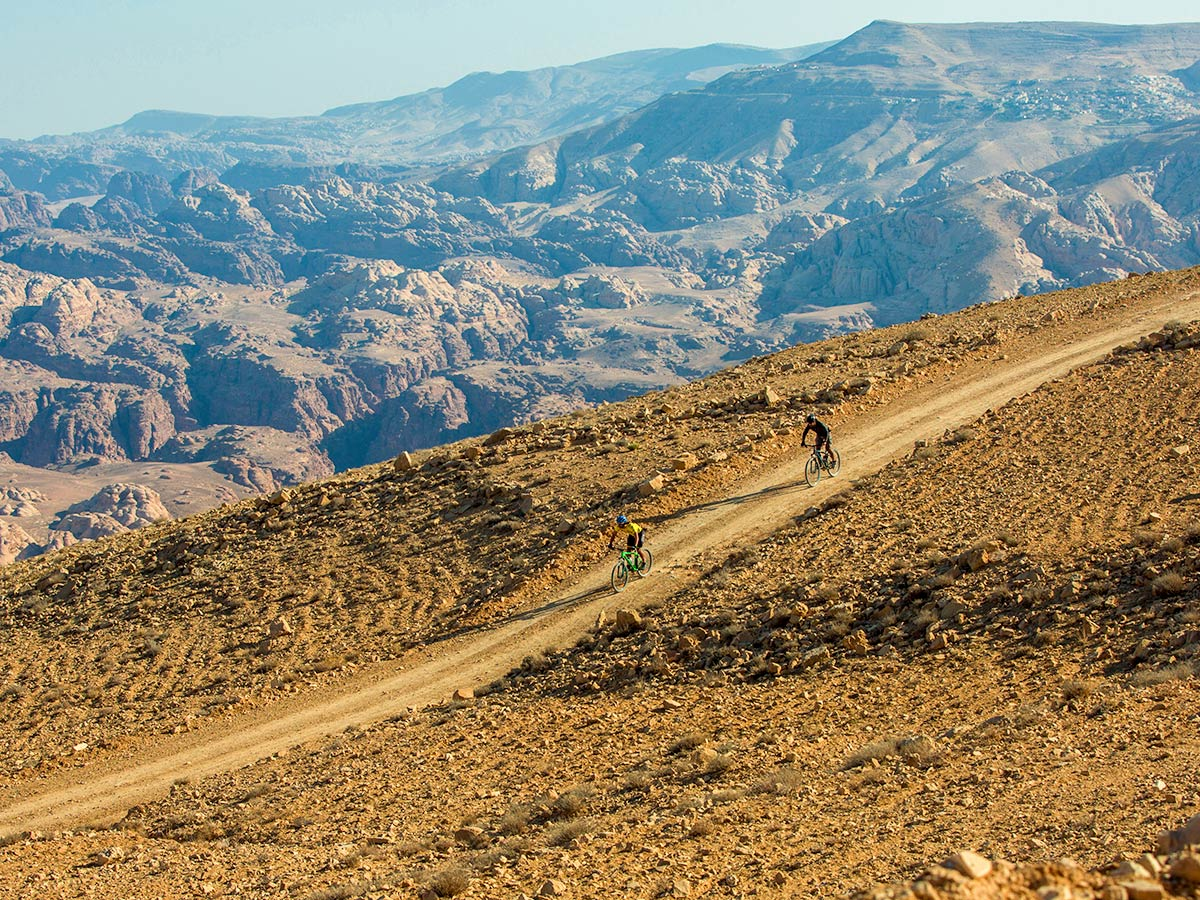 Guided mountain biking tour on Jordan Adventure Holiday