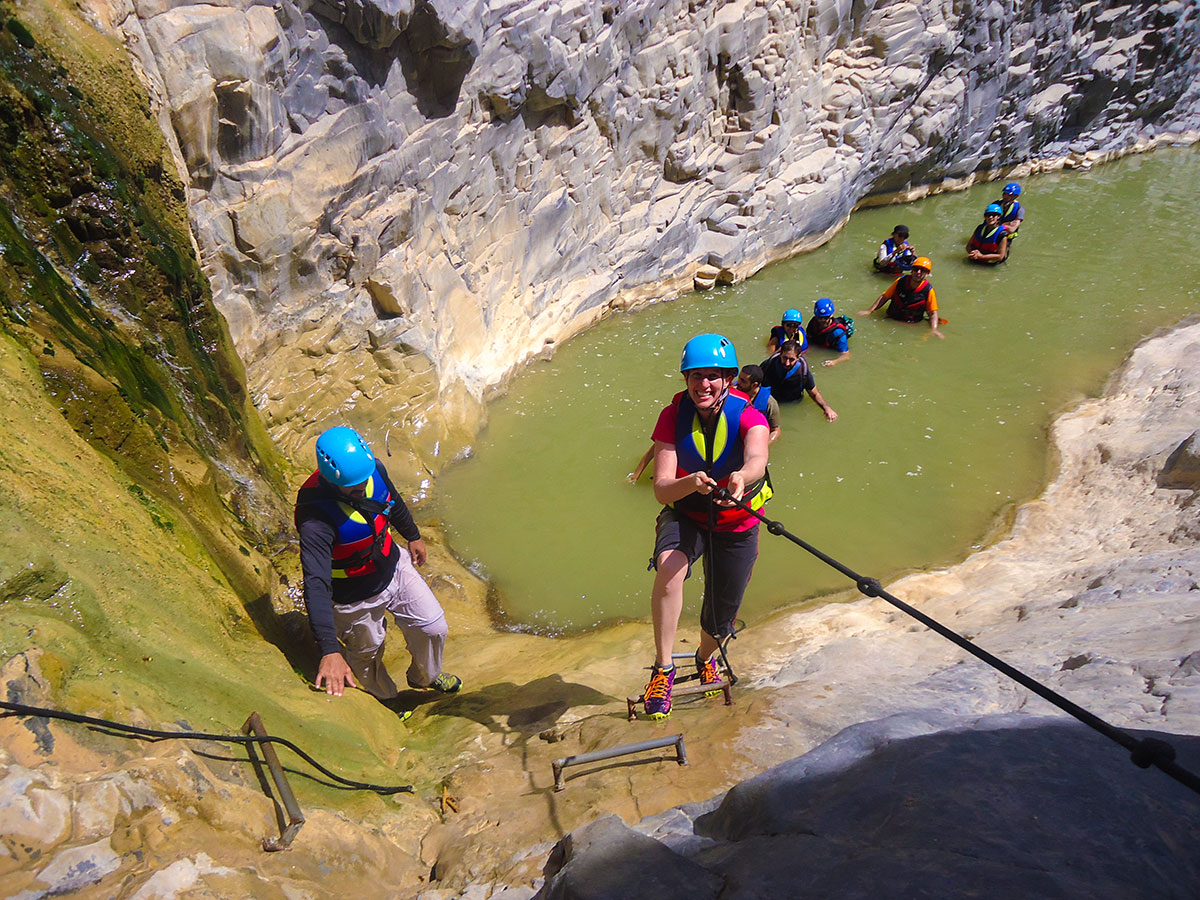 Canyoning on Jordan Adventure Holiday guided tour