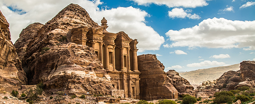 Petra views on Jordan Adventure Holiday guided tour