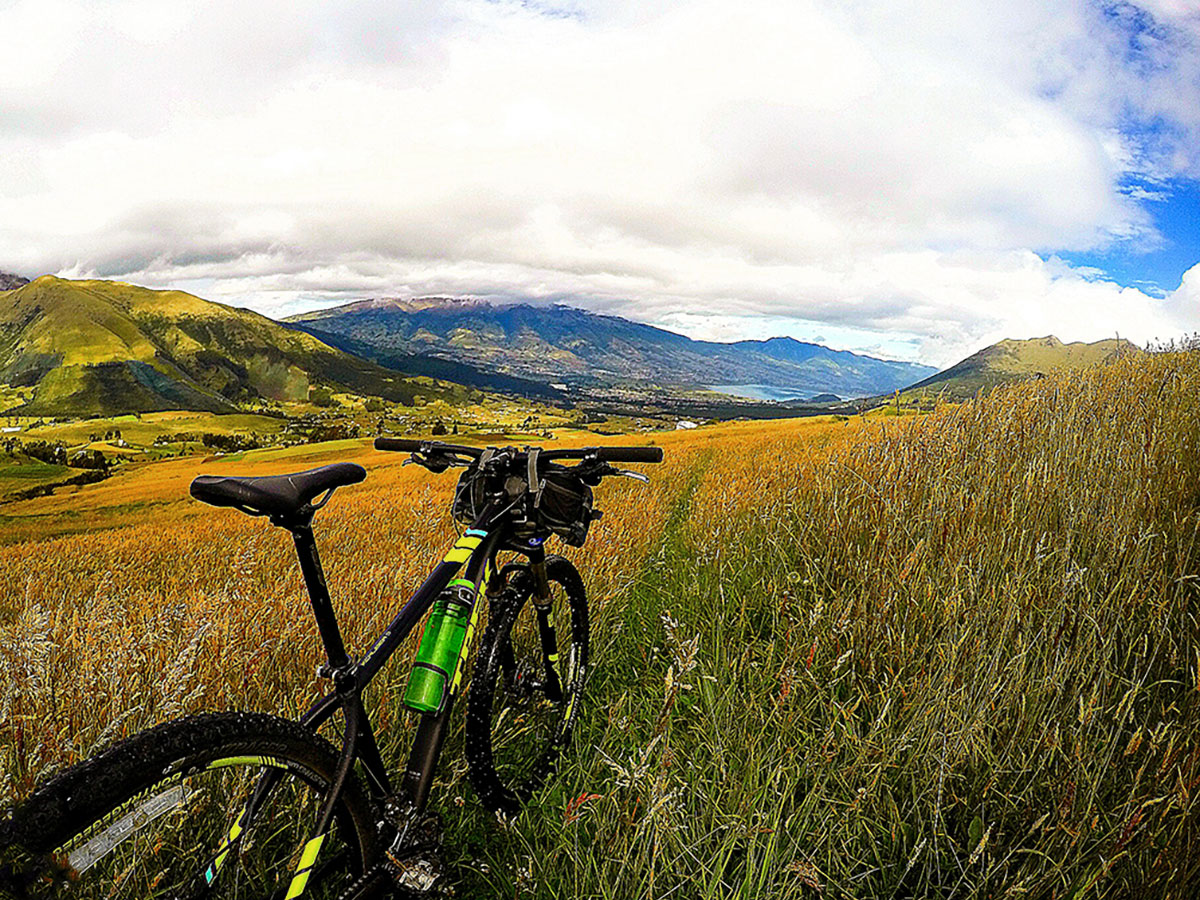 View of San Pablo lake on Cross Country Cycling in Ecuadorian Andes