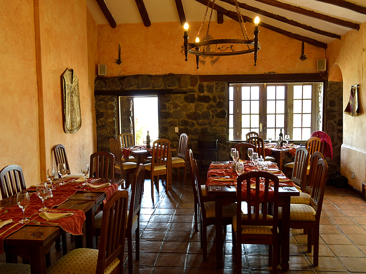 Restaurant on Cross Country Cycling in Ecuadorian Andes