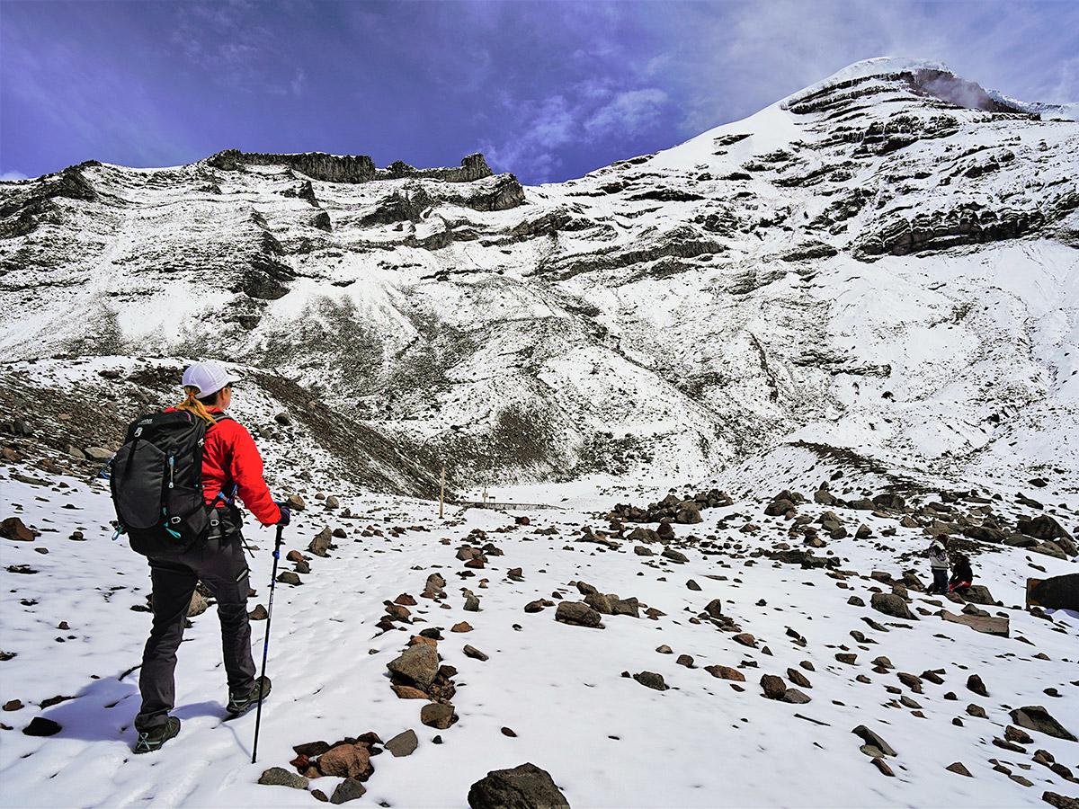 Chimborazo on trekking tour in Ecuador in the Avenue of Volcanoes