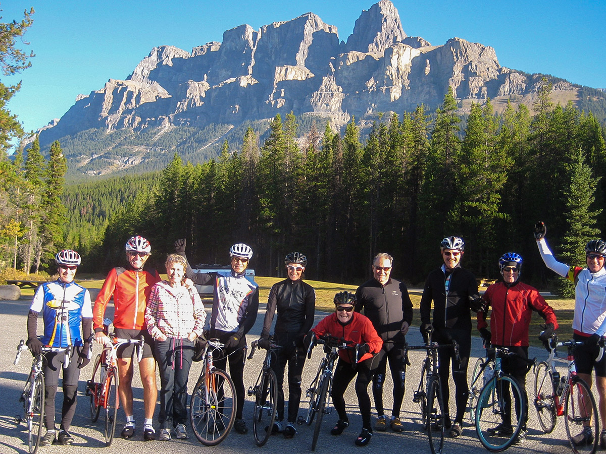Cycling tour from Jasper to Banff in Canada has amazing views