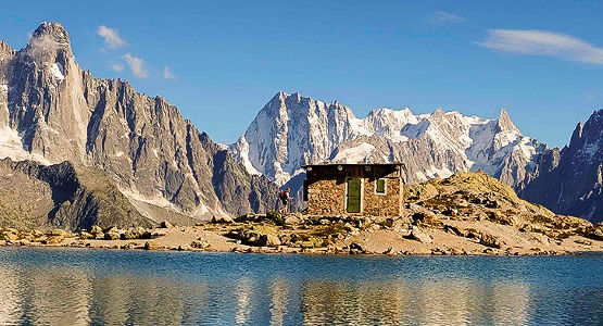 Beautiful views from trekking tour in Europe