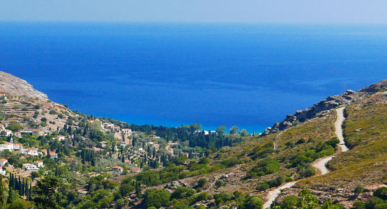 Beautiful views from trekking tour in Greece