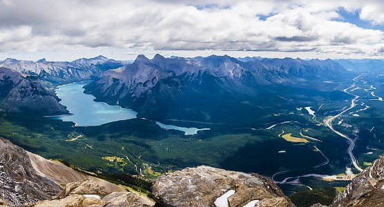 Beautiful views of Canadian Rockies on guided tour in Canada
