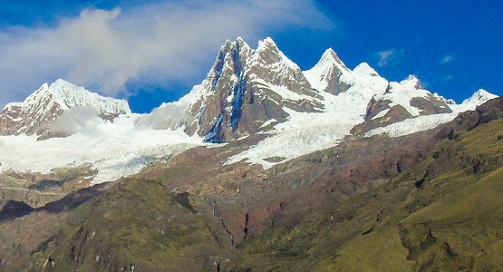 Beautiful views from trekking tour in Peruvian Andes