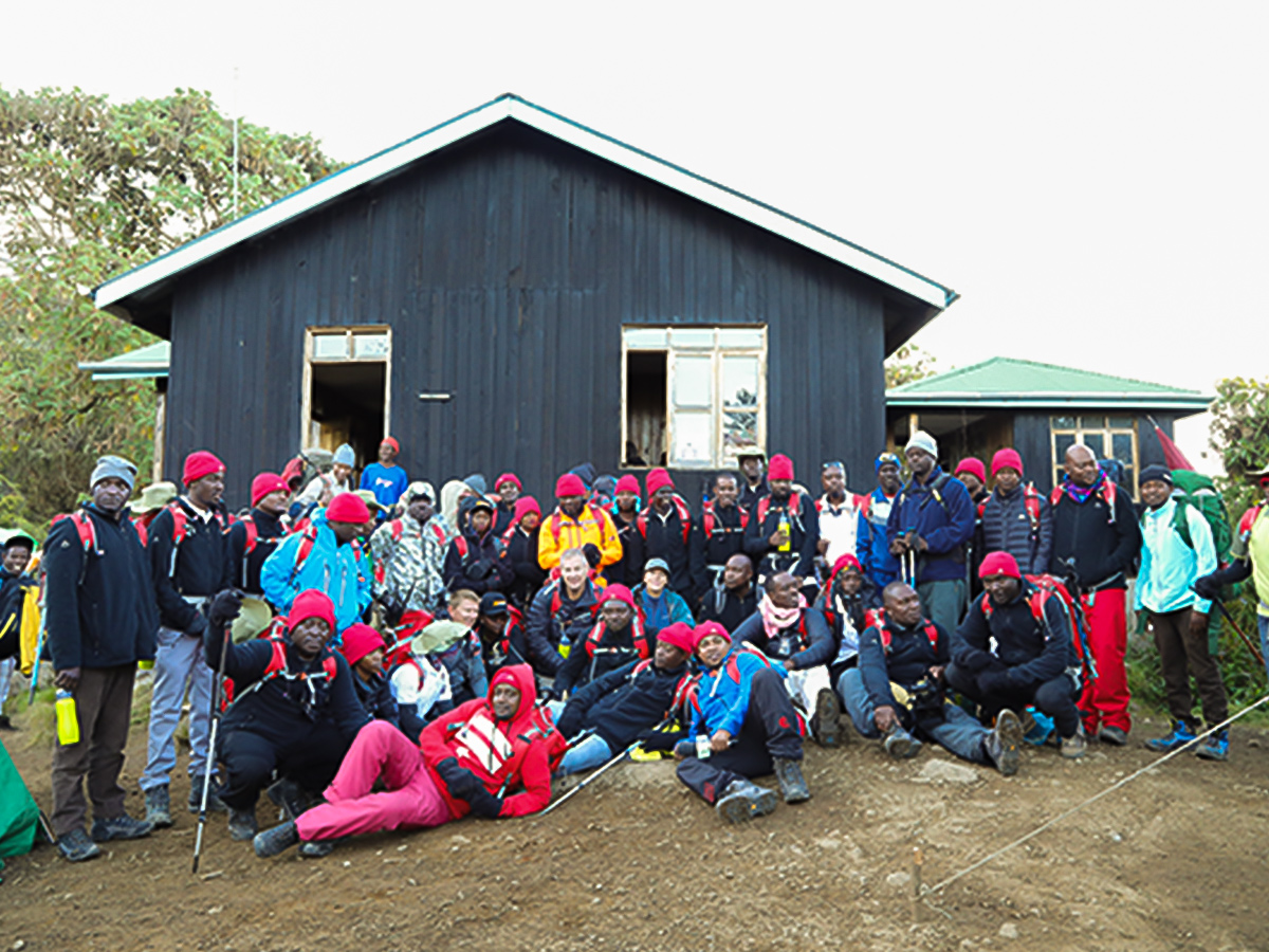 Machame Hut is a great place to stay on Kilimanjaro trek on Machame Route in Tanzania