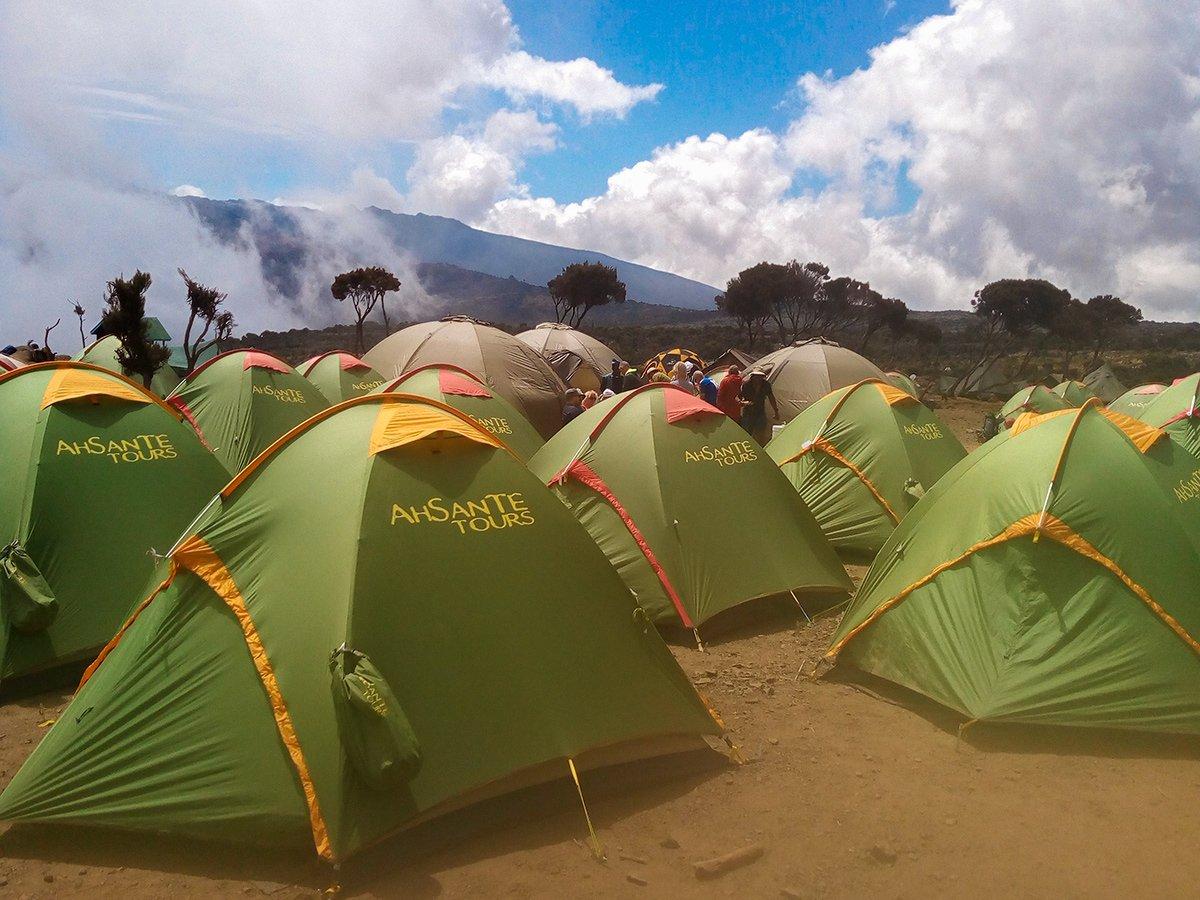 Shira Camp on guided Kilimanjaro trek on Machame Route in Tanzania