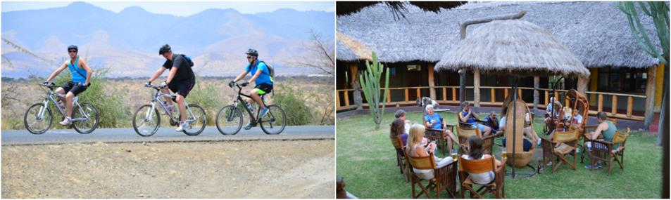 Beautiful views along the trail of guided Kilimanjaro to Ngorongoro Cycling Tour