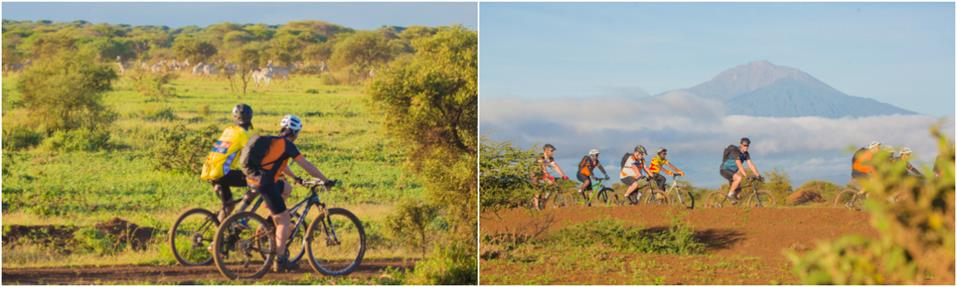 Views from guided Kilimanjaro to Ngorongoro Cycling Tour