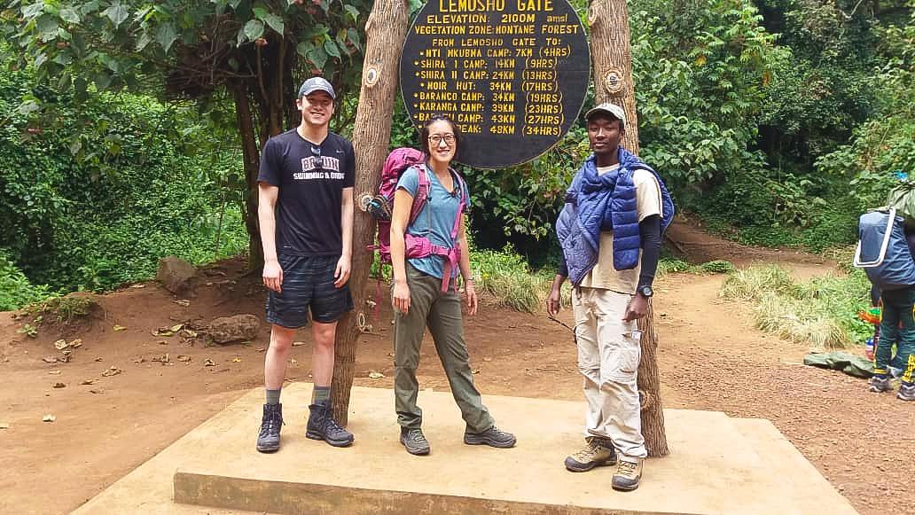 Beginning of Kilimanjaro trek on Lemosho Route in Tanzania