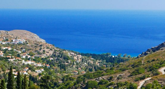 Countryside views on Authentic Greek Islands hiking tour on Andros & Tinos