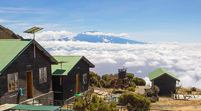 Beautiful huts on Mount Meru Trek in Tanzania