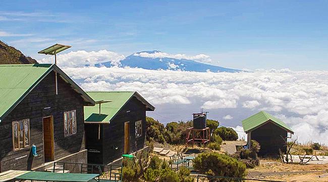 Beautiful huts on Mount Meru Trek in Tanzania