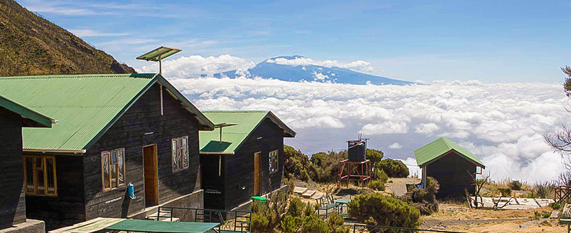 Views above the clouds on guided Mount Meru trek in Tanzania