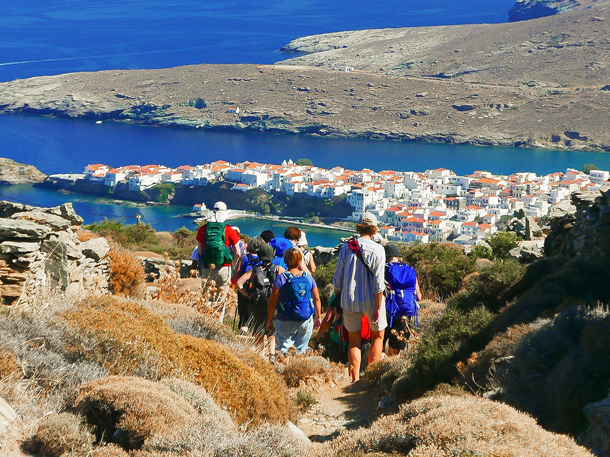 Beautiful views on Authentic Greek Islands hiking tour on Andros & Tinos