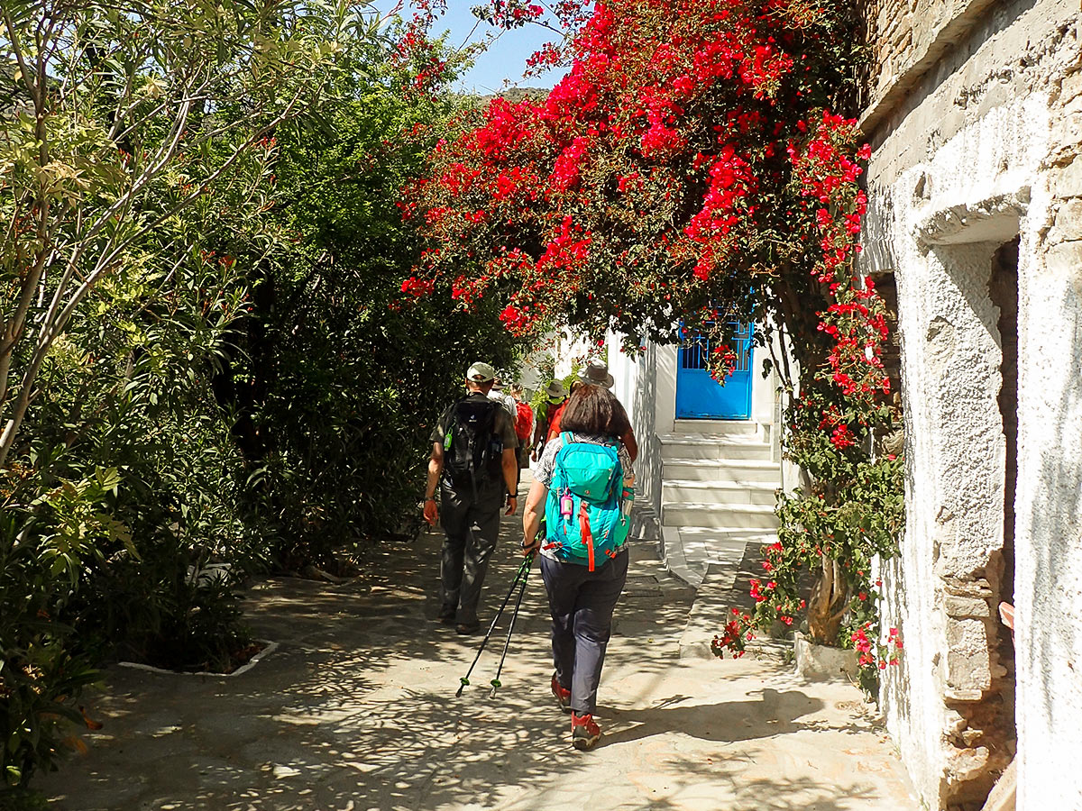 Hikers on Authentic Greek Islands hiking tour on Andros & Tinos