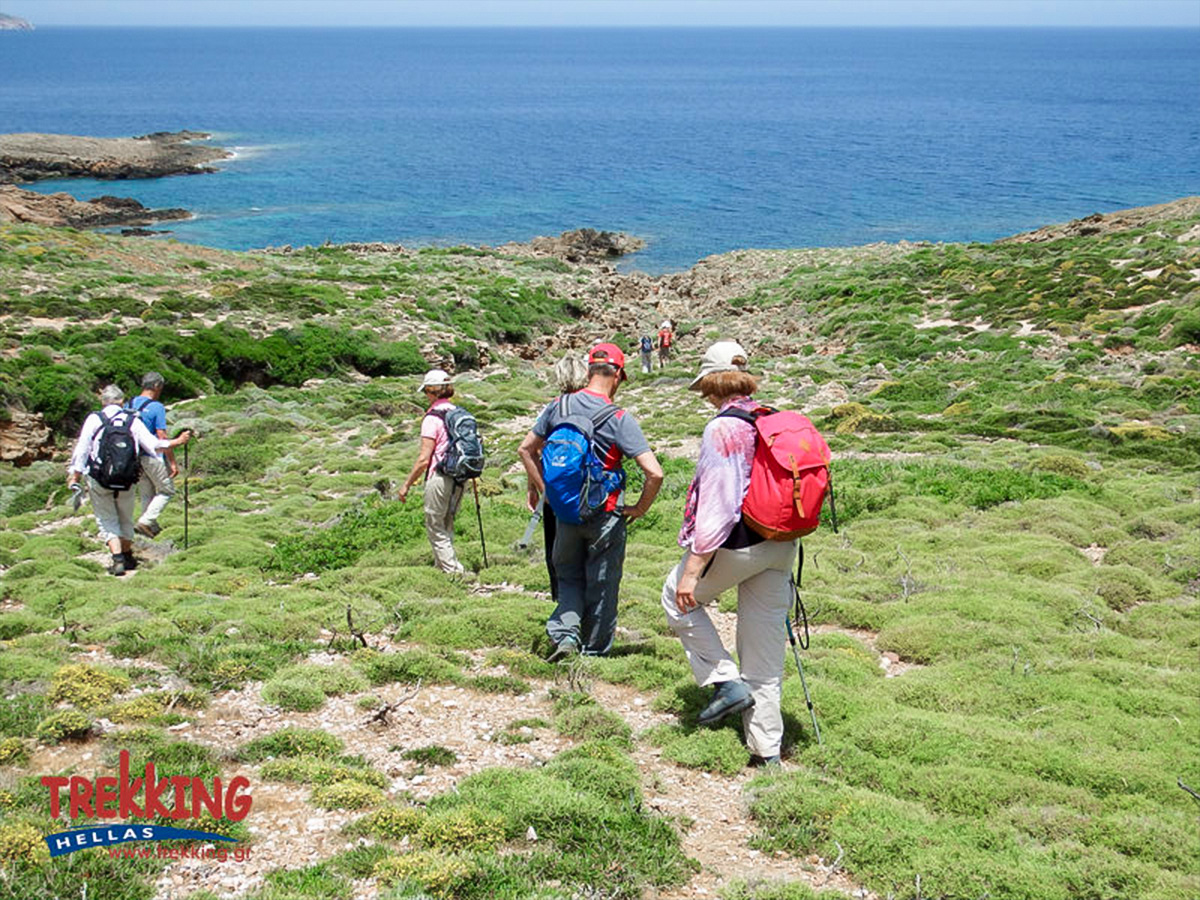 Views towards the Aegean sea on Authentic Greek Islands hiking tour on Andros & Tinos