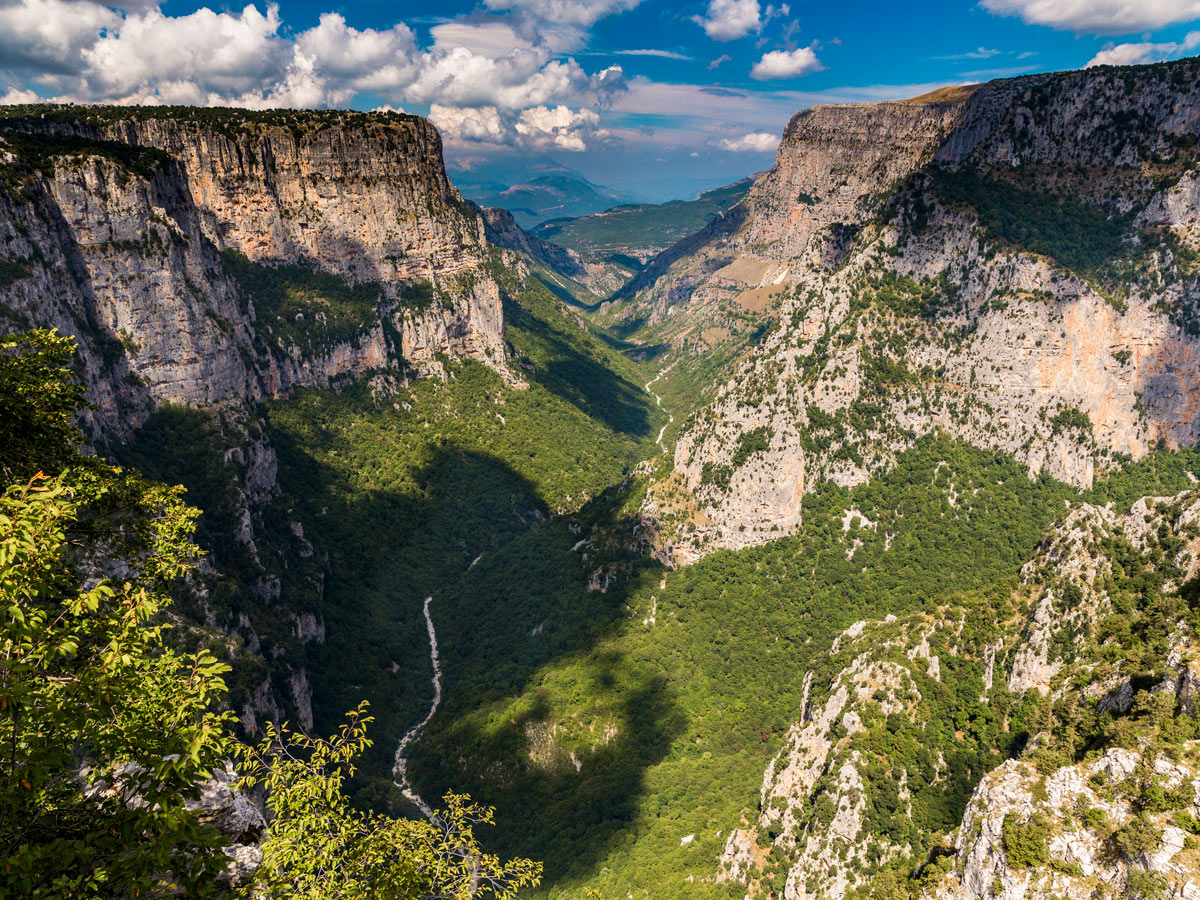 Vikos Gorge on tour of Pindos Mountains trail in Greece