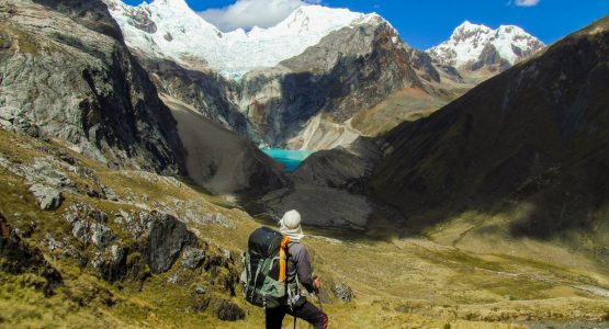 Small lake along the trail of Alpamayo to Pomabamba trek in Peru