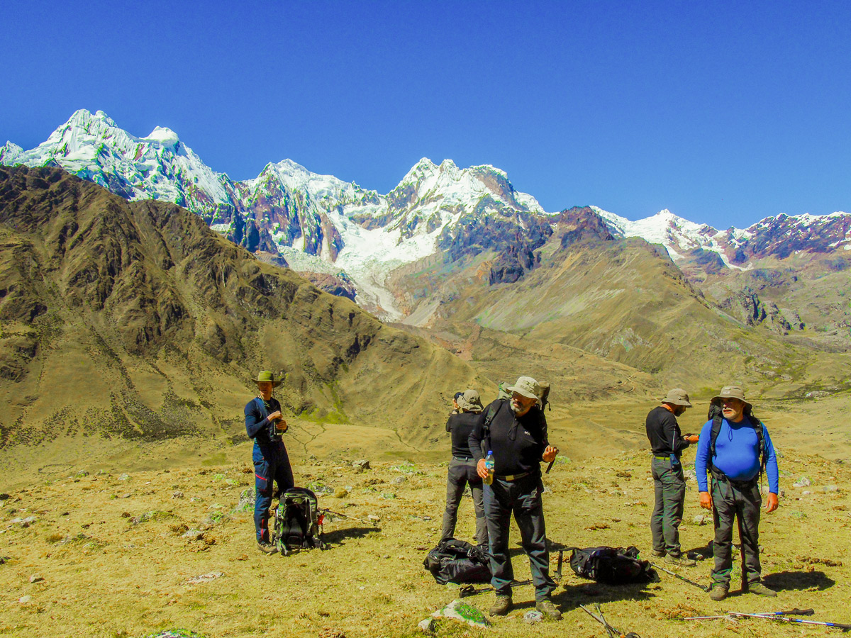 Beautiful views on Alpamayo to Pomabamba trek in Peru